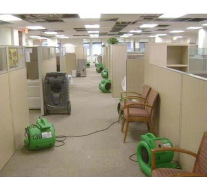 Commercial Water Damage – Northampton Office Building After