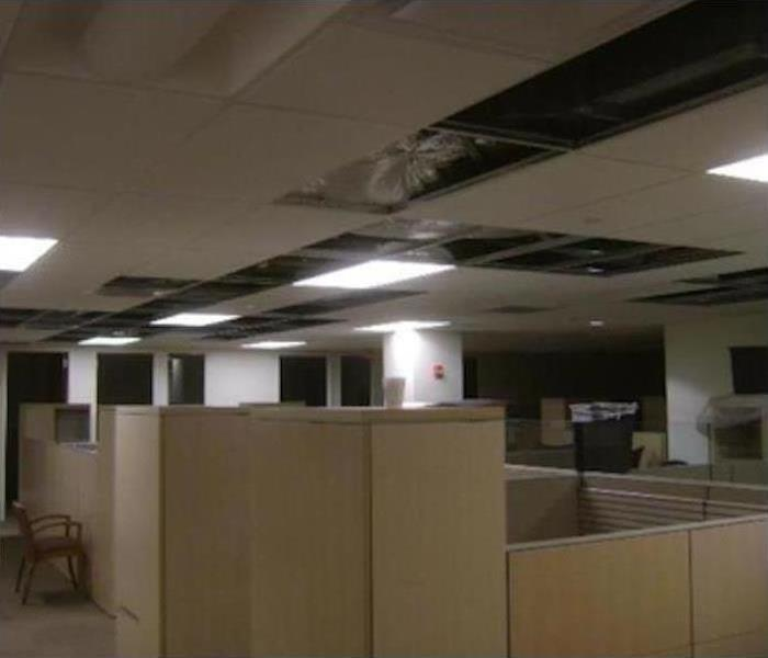 Commercial Water Damage – Northampton Office Building Before
